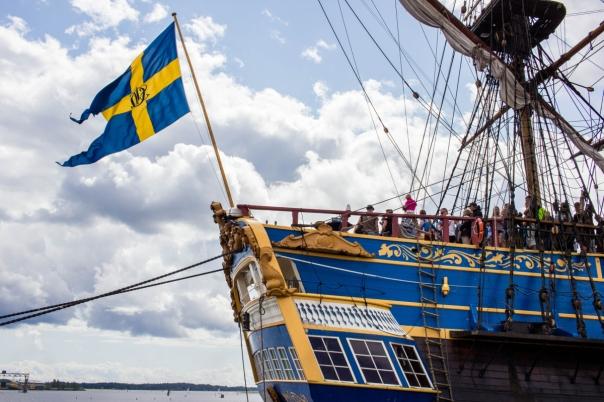 Ostindiefararen Götheborg flagga